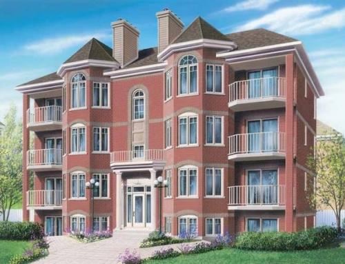 4 Katlı 8 Daireli Hafif çelik Apartman Örnegi