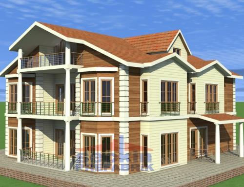 2,5 Katlı Hafif Çelik Villa Örneği